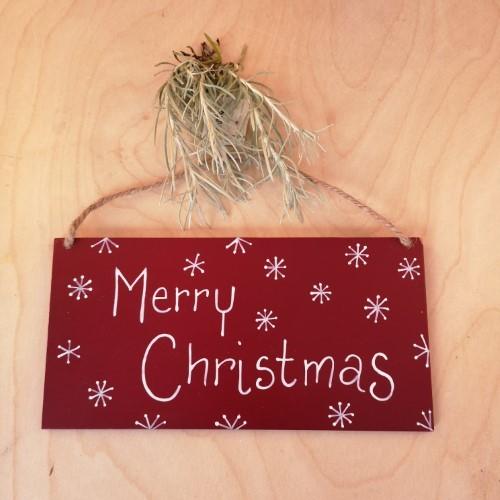 Schild Holz Rot Polka Dots Weihnachten Shabby Vintage Landhaus Nostalgie