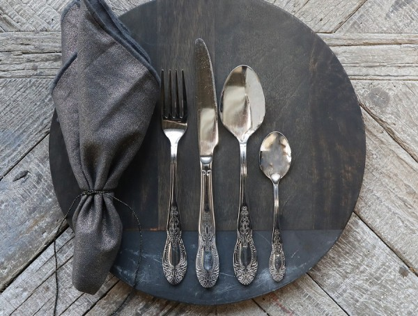 Chic Antique Besteckset 4 teilig Patina Shabby Vintage Nostalgie Küche Landhaus