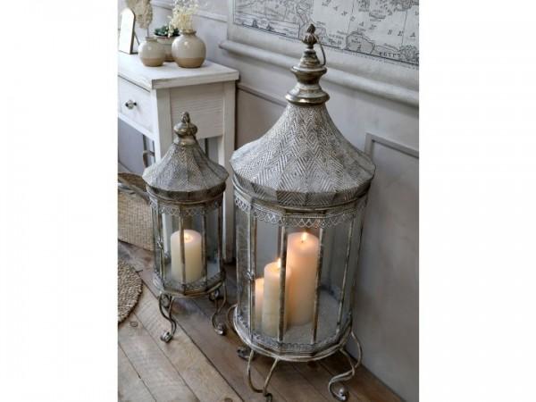 Laterne Windlicht Kerzenständer Metall Antik Shabby Vintage Landhaus Garten Klein