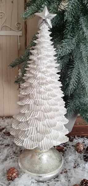Weihnachtsbaum Weiß Stern Shabby Vintage Landhaus Nostalgie Deko Weihnachten