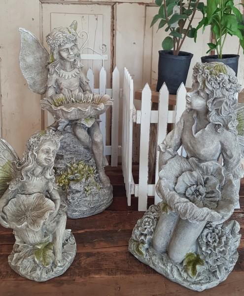 Büste Putte Statur Elfe Garten Shabby Vintage Landhaus Nostalgie Deko M