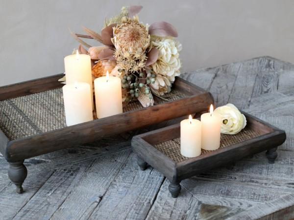 Chic Antique Tablett Aufsatz Holz Shabby Brocante Vintage Antik Landhaus Groß