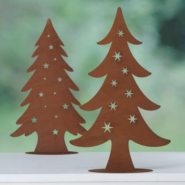 2er Set Weihachtsbaum XL Metall Rost Sterne Weihnachten Shabby Vntage Landhaus Groß