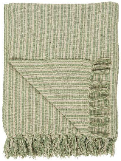 Ib Laursen Plaid Sommerdecke Quilt Decke Grün 130*180 Tagesdecke