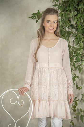 Jeanne d arc living Tunika Jacke Kleid Vintage Vitagemode Landhaus Rose Boho
