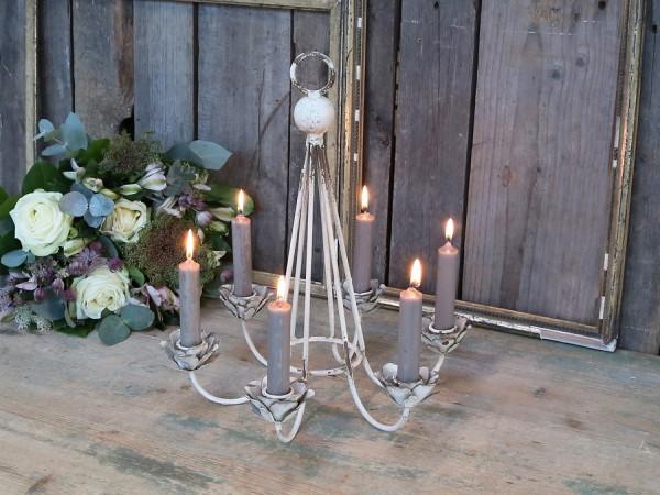 Kerzen Kerzenleuchter Decke Antik Creme Vintage Landhaus Shabby Hängeleuchter