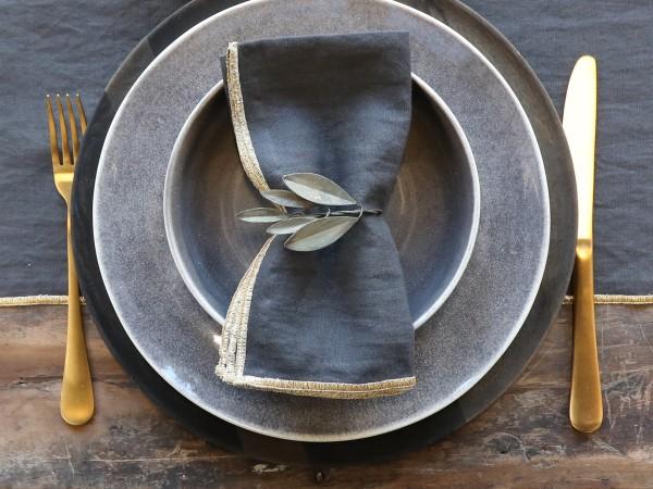 Serviertenring Metall Antik Grün Olive Küche Vintage Landhaus Deko