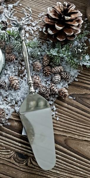 Tortenheber Hirsch Silber Weihnachten Vintage Landhaus Deko