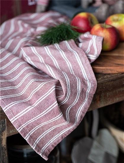 IB Laursen Küchehandtuch Rot- Weiß Baumwolle Shabby Vintage Landhaus