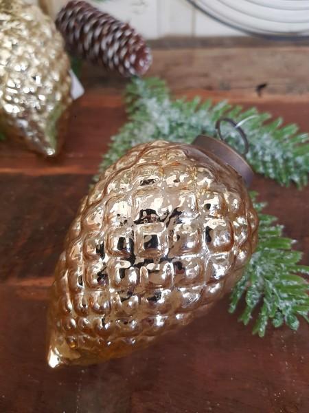 Christbaumkugel Gold Weihnachten Shabby Vintage Nostalgie Weihnachten Nr. 9