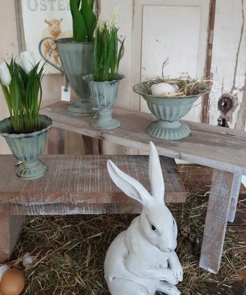 Bank Blumenbak Tisch Hocker Holz Vintage Landhaus Shabby Groß