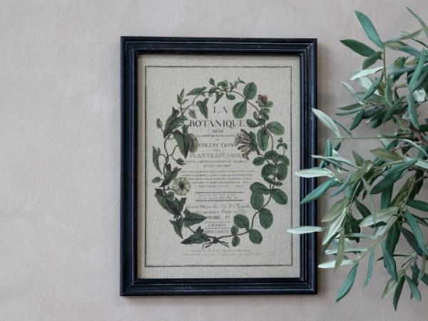 Bild Blumenkranz Rahmen Antik Kohle Shabby Vintage Landhaus Wandbild Deko-Copy