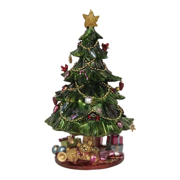 Spieluhr Weihnachten Tannenbaum Jahrmarkt Vintage Nostalgie Landhaus
