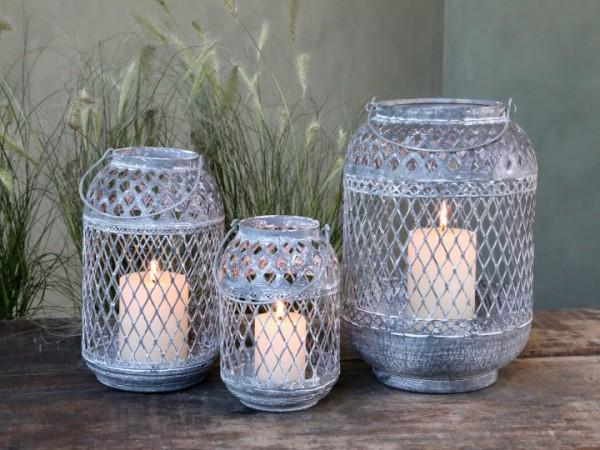 Laterne Windlicht Kerzenständer Metall Antikzink Shabby Vintage Landhaus Garten Groß