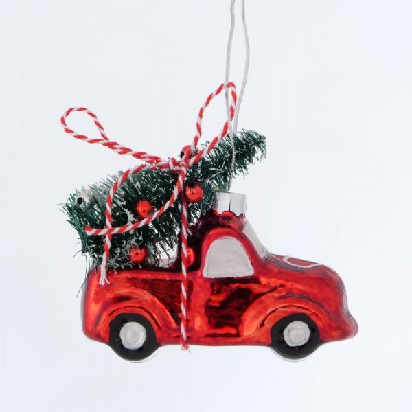 Christbaumkugel Rot Auto Weihnachten Shabby Vintage Nostalgie Weihnachtsdeko