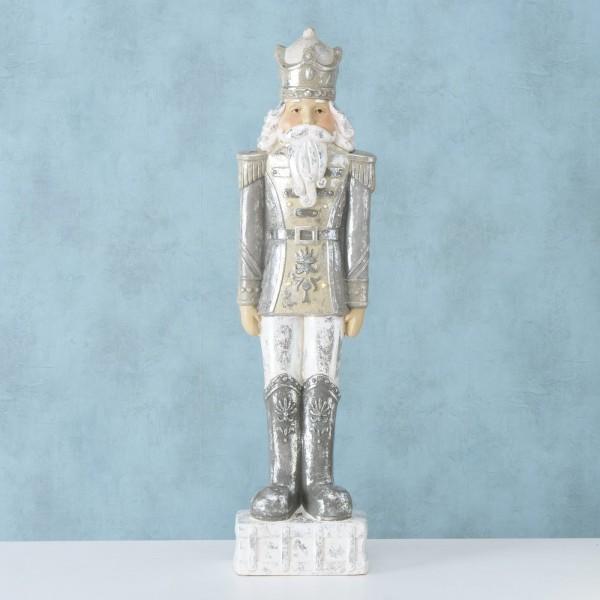 Nussknacker XXL Silber- Gold Weihnachten Landhaus Vintage Deko