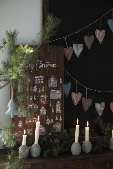 iB Laursen Holzschild Weihnachtsdorf Vintagedruck Weihnachten Deko