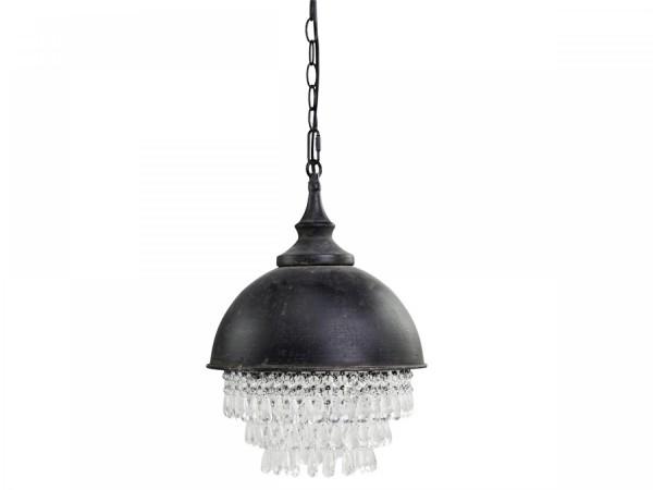 Kronleuchter Metall Antik Kohle Prismen Shabby Vintage Nostalgie Landhaus Deckenlampe Factory Indust
