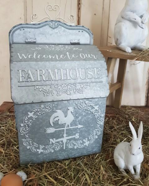 Briefkasten Metall Farmhouse Shabby Vintage Landhaus Nostalgie Deko