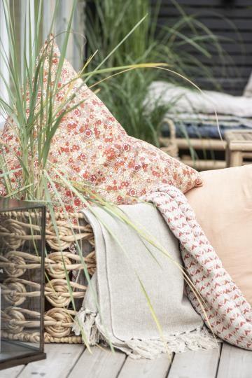 Ib Laursen Plaid Sommerdecke Quilt Decke Natur 130*160 Tagesdecke