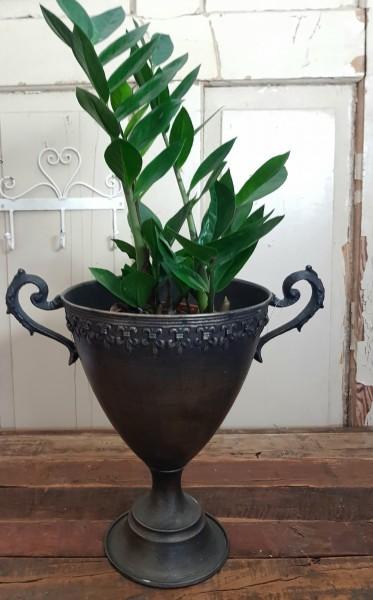 "Pokal Amphore Schale Metall Antikgold Shabby Vintage Nostalgie ""Lilie"""
