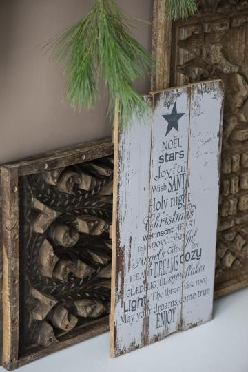 iB Laursen Holzschild WeihnachtstextVintagedruck Weihnachten Deko