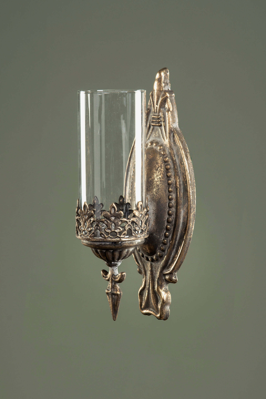 Hänge-windlicht Laterne GLAS Metall Garten-deko Shabby Vintage Landhaus Grau