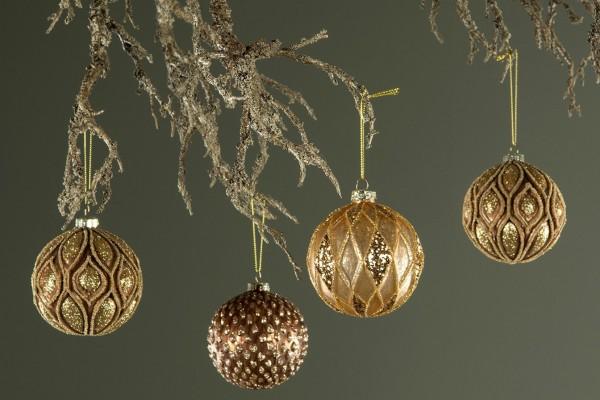 Christbaumkugel Kupfer/ Gold Weihnachten Shabby Vintage Nostalgie Weihnachten Nr. 3