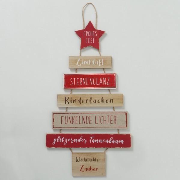 Schild Holz Weihnachtszauber Weihnachten Shabby Vintage Landhaus Nostalgie