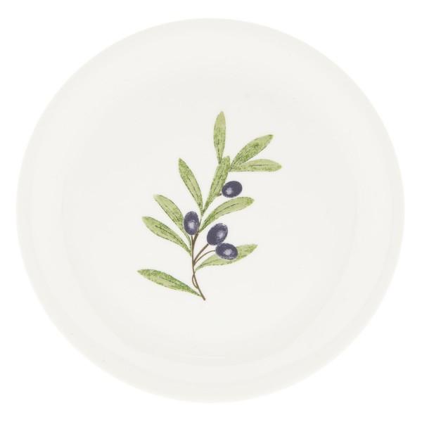 Clayre&Eef Geschirrserie Olive Dessertteller Shabby Vintage Landhaus Deko