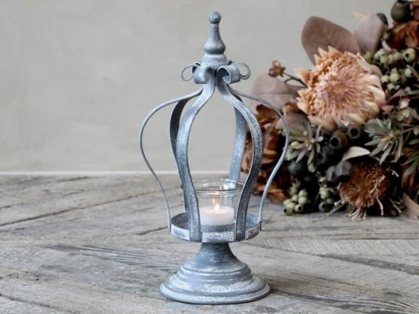 Chic Antique Windlicht Krone Antik Zink Shabby Vintage Landhaus Garten Nostalgie