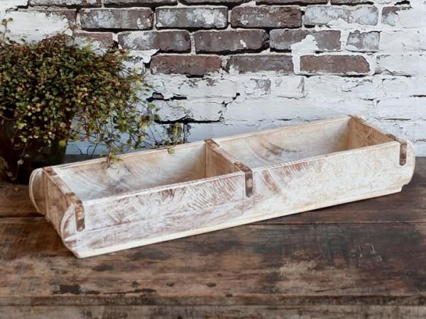 Ziegelform Pflanzkasten Regal Holz Shabby Withewash Vintage Nostalgie Deko Groß