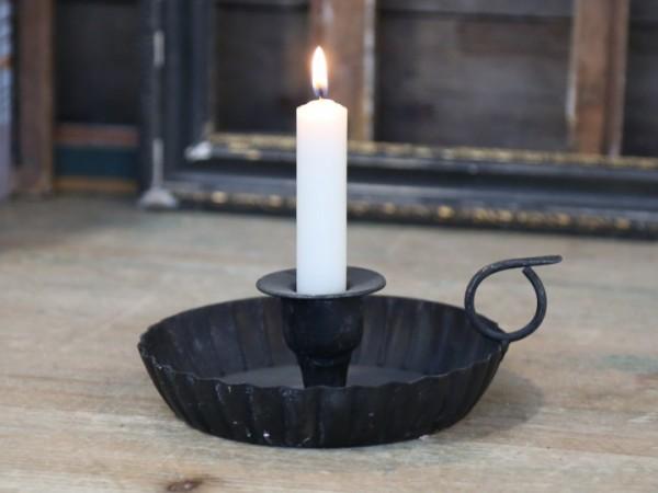Kammerleuchter Kerzenständer Metall Antikkohle Shabby Vintage Garten Landhaus Deko