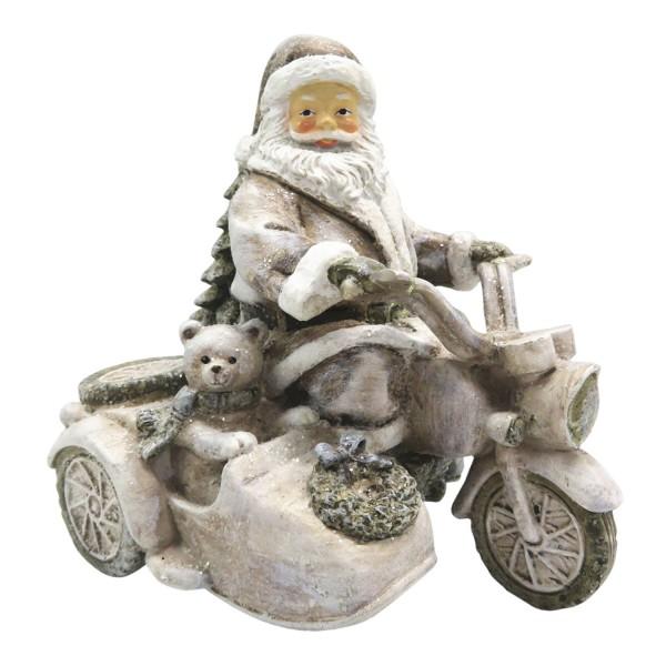 Weihnachten Weihnachtsmann auf Roller Vintage Nostalgie Landhaus Deko