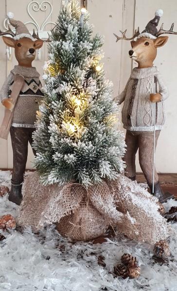 Weihnachtsbaum beschneit Shabby Vintage Landhaus Nostalgie Deko Weihnachten