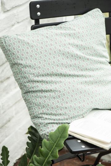 Ib Laursen Kissenbezug Blumen Grün Shabby Vintage Landhaus Deko