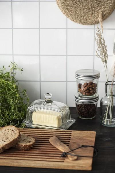 Ib laursen Butterdose Glas Küche Vintage Landhaus Deko Groß