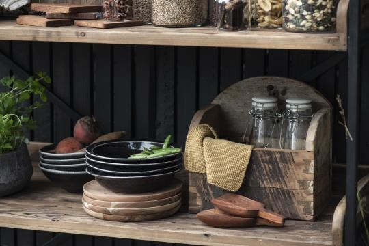 Ib Laursen Shaufel Akazie Holz Vintage KücheBoho Landhaus Deko