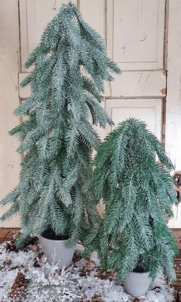 Weihnachtsbaum im Topf beschneit Shabby Vintage Weihnachten Landhaus Groß