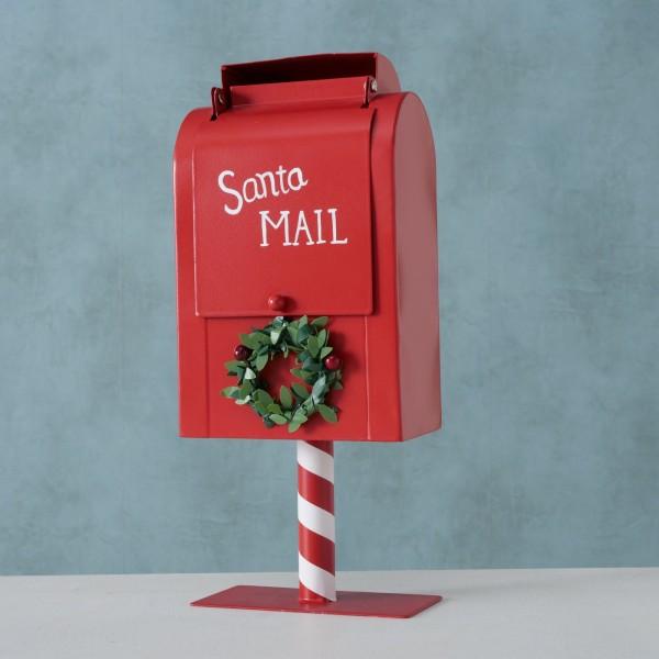 Dekobriefkasten Rot Santa Weihnachten Shabby Vintage Nostalgie Weihnachtsdeko