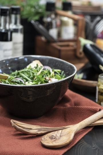 Ib Laursen Salatbesteck Olive Holz Vintage Platzteller Boho Landhaus Deko