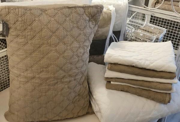 Tagesdecke Decke gesteppt Mikrofaser Bettdecke Weiß Landhaus Vintage 2 Größen