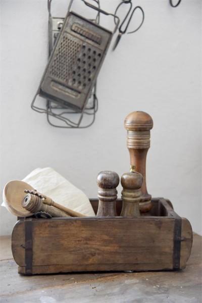 Ziegelform Pflanzkasten Regal Holz Shabby Brocante Vintage Nostalgie Deko Klein