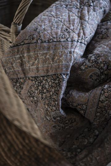 Ib Laursen Plaid Decke Herbst Quilt gefüttert Paisley 130*180 Tagesdecke Nr. 2