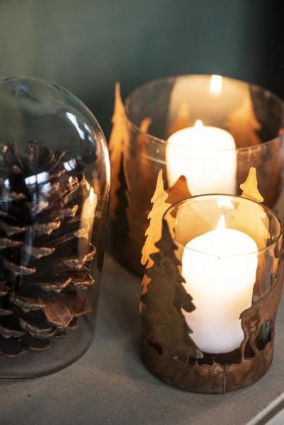 IB Laursen Windlicht Hirsche Metall Rost Vintage Kerzenleuchter Weihnachten Klein