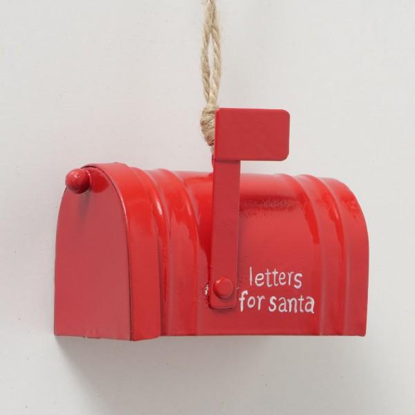 Dekoanhänger Rot Letters Weihnachten Shabby Vintage Nostalgie Weihnachtsdeko Klein