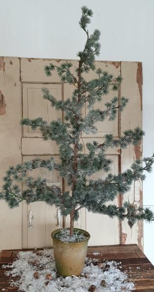 Lerche künstlich beschneit Shabby Vintage Landhaus Nostalgie Deko Weihnachten 120 cm