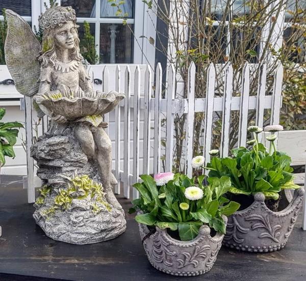 Dekozaun Holz Weiß Garten Shabby Vintage Landhaus Deko