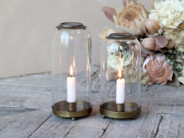 Laterne Windlicht Kerzenständer Metall Antikgold Shabby Vintage Landhaus Klein