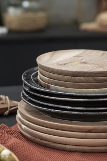Ib Laursen Teller Akazie Holz Vintage Platzteller Boho Landhaus Deko